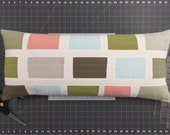 Modern Lumbar Pillow - Window Pane Multi