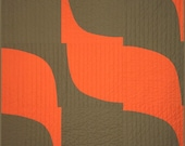 Modern Quilt - Paisley Twist (Flame) -