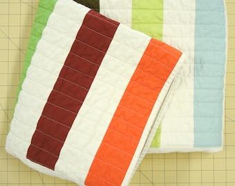 Modern Quilt - Baby Blanket - Picket Multi