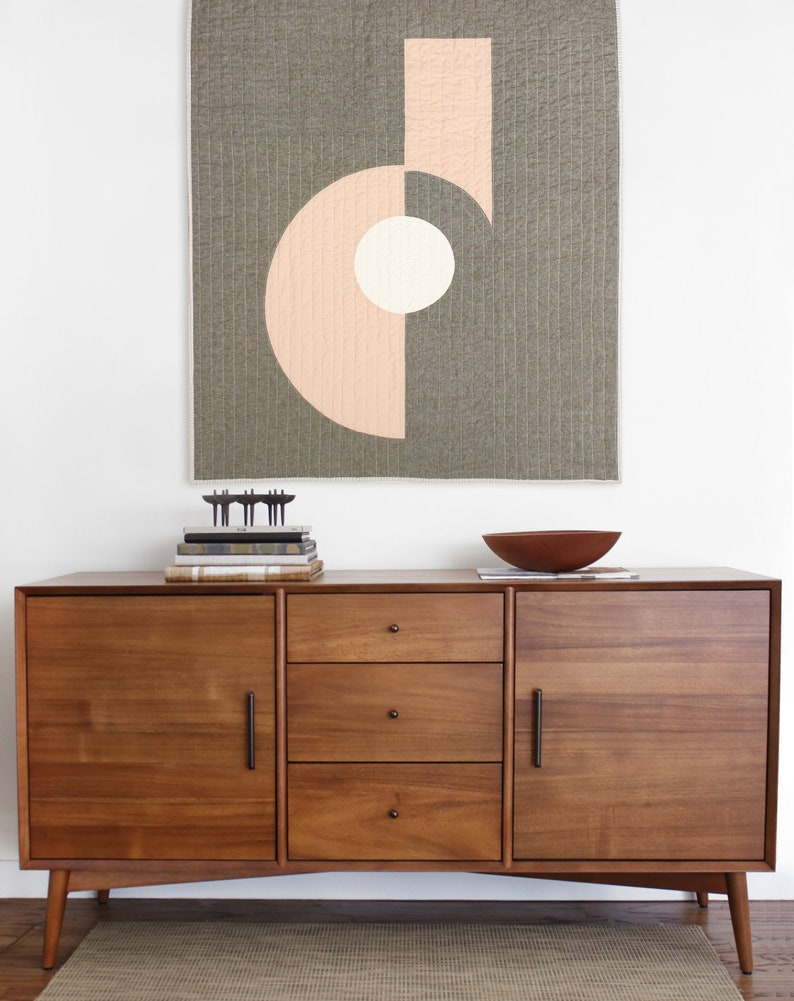 Mid-Century Modern Throw Quilt  Cutouts 3 image 0
