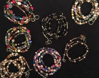 7 Necklace Necklaces or Wrap Bracelet Bracelets Glass Beads