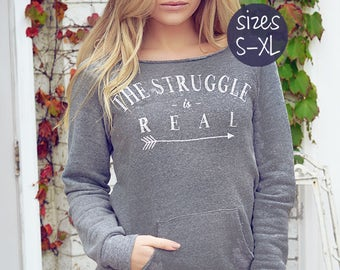 mom life shirt, slouchy sweatshirt, the struggle is real shirt, off the shoulder sweatshirt, off the shoulder top, #momlife shirt, momism