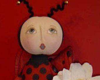 Primitive, Raggedy Dolls, E-PATTERN Flowers, Lady Bug pattern, Bee dolls,