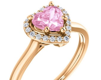 Reserved Listing for Candace - Morganite 10k Rose Gold Halo ring