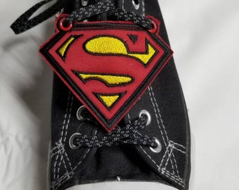customized - finished item Lightning bolt flash shoe wings metallic fabric with choice of thread color