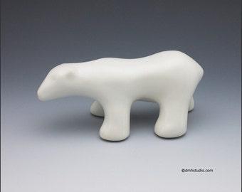 Walking Polar Bear Sculpture