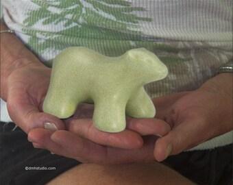 Baby Polar Bear in Celadon Green