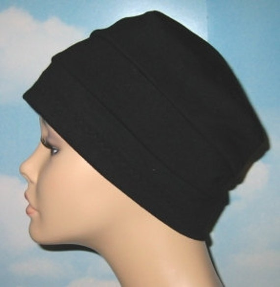 Chemo Hat 3-Band Navy Blue Cancer Hijab Alopecia Hair Loss Yoga Made in USA