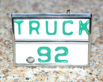 Belt BUCKLE - Recycled License Plate - Truck 92 - ON SALE