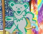Grateful Dead Dancing Bear Christmas Ornament Suncatcher Deadhead LAST ONE