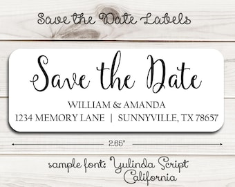 save the date labels etsy