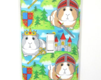 Guinea pig knights Light Switch Cover Plate Medieval Castle Bedroom Decor
