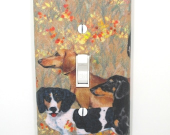 Dachshund Light Switch Cover Plate Dog Lover Gift Unique Housewarming Home Decor