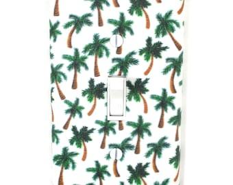 Palm Trees Light Switch Cover Plate Beach House Bathroom Decor