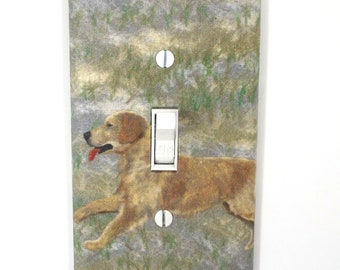 Golden Retriever Light Switch Cover Plate Dog Lover Gift Home Decor Puppy