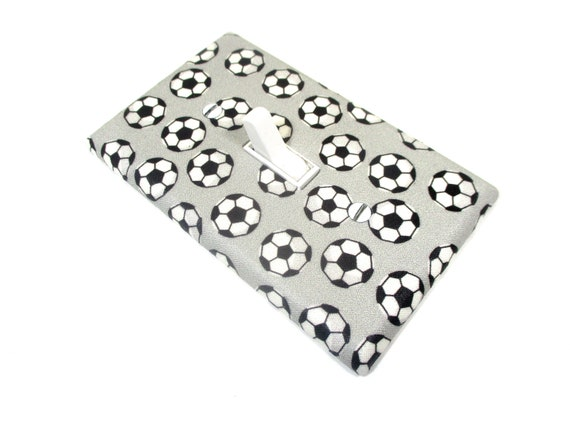 Soccer Decorative Single Toggle Light Switch Wall Plate Cover Standard//Midway or Jumbo Size