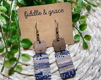 Cork fabric earrings