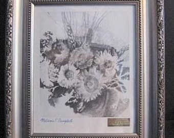 Flowers Unframed Limited Edition Art Print Signed, Numbered, Exclusive Campbell Studio