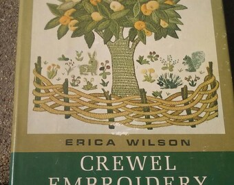 Vintage Craft Book Crewel Embroidery by Erica Wilson