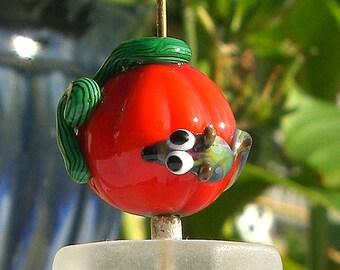 Pumpkin - Lampwork Beads - Focal bead
