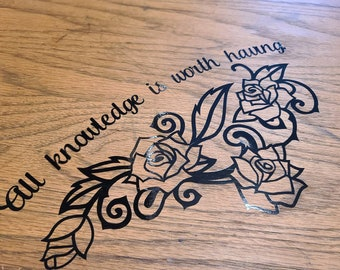 All Knowledge - Vinyl Decal - Cut to Order
