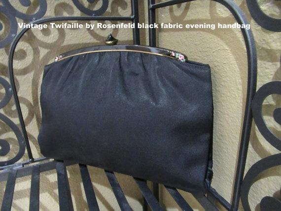 Vintage Twifaille by Rosenfeld black fabric evenin