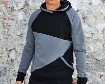 Mens hoodie in cotton,hoodie sweaters,hoody for men,organic cotton,Christmas gift for him