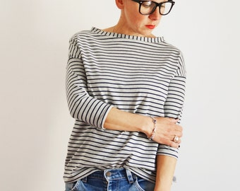 organic cotton stripe t shirt, stripes fabric,gray stripes t shirt
