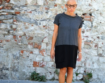 Loose fit dress,Dress, knee dress, organic cotton dress,women dresses,casual dress,minimal dress,loose dress,oversized dress,loose fit dress