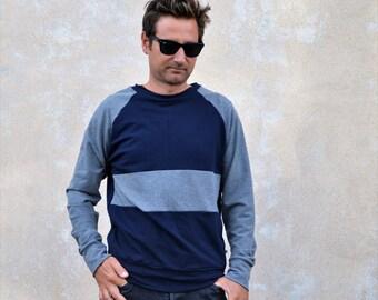 Men's sweatshirt,organic cotton sweatshirt,sweatshirts,modern sweatshirt,cool sweatshirt,handmade sweatshirt,minimal sweatshirt
