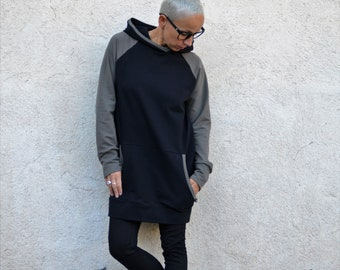 Hoodie sweatshirt, organic clothing, organic sweatshirt,sweatshirt, women sweatshirt,long sweatshirt,organic sweater