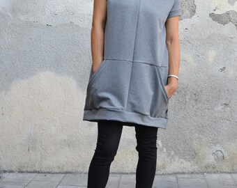 Tunic dress,sweatshirt dress,organic clothing,sweatshirt tunic