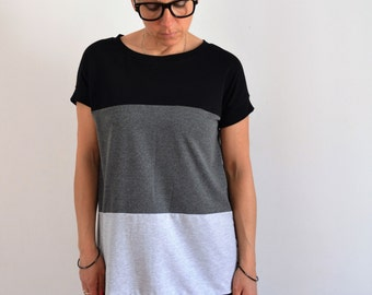 Loose fit t shirt dress in jersey