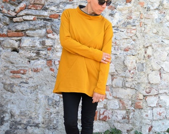 Tunic sweatshirt in organic cotton