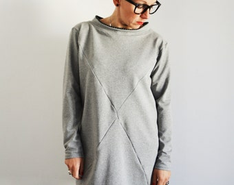 Loose fit sweatshirt,slouchy sweatshirt,tunic sweatshirt,tunic dress,organic cotton tunic,organic cotton dress,sweaters for women