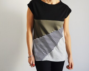 Sporty casual t shirt in organic cotton