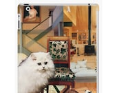 Virgo iPad Snap-on Protective Hard Case - Zodiac Astrology Collage Art - August September Birthday Gift for the Cat Lover