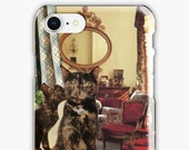 Cancer iPhone Case - Zodiac Astrology Collage Art - June July Birthday Gift for the Cat Lover - Snap or Tough Case