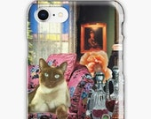 Taurus iPhone Case - Zodiac Astrology Collage Art - April May Birthday Gift for the Cat Lover - Snap or Tough Case