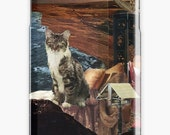 Capricorn iPhone Case - Zodiac Astrology Collage Art - December January Birthday Gift for the Cat Lover - Snap or Tough Case