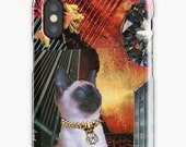 Aries iPhone Case - Zodiac Astrology Collage Art - March April Birthday Gift for the Cat Lover - Snap or Tough Case