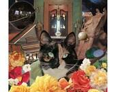 Libra - StarCat - Zodiac Astrology Art Print - Cat Lover gift, gift for Libra, September October birthday