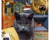 Scorpio - StarCat - Zodiac Astrology Art Print - Cat Lover gift, gift for Scorpio, October November birthday