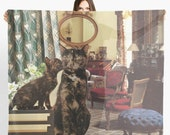 Cancer StarCat Extra Large Scarf - Zodiac Astrological Sign Collage Art - June July Birthday Gift for the Cat Lover - 55 inch square