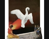 swan song (canto 5) 8X10 surreal collage giclee art print