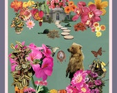 the gift of dream - 12x12 giclee art print - collage art by livingferal