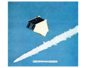how silent my stay in space has been- giclee print surreal collage art by livingferal