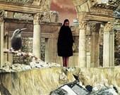 the gatekeeper - 9X12 surreal collage art print