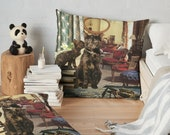 Floor PIllow Cancer StarCat 36x36 Decorative Pillow Cover - Astrology Zodiac Art - June July Birthday Gift for the Cat Lover, Tortoiseshell