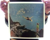 LARGE 12X12 yet another leap of faith collage art print